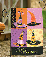 Toland - Witchy Welcome - Colorful Halloween Witch Hat Garden Flag