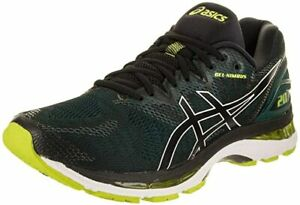 Asics-Gel-Nimbus-20-Mens-Black-NEON-Lime-Mesh-w-Rubber-Sole-Running-Shoes-US-11