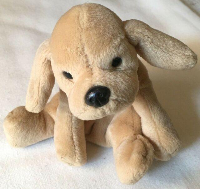 "10/"" GUND LAYING MUTTSY PUPPY DOG BROWN TAN STUFFED ANIMAL PLUSH TOY SMALL PUP"