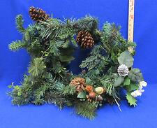 Green Christmas Garland Artificial Floral Decor Pine Cedar Boughs Cones Berry 6'