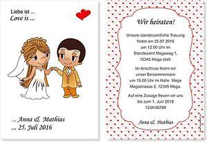 Einladungskarten Hochzeit Liebe Ist Ebay
