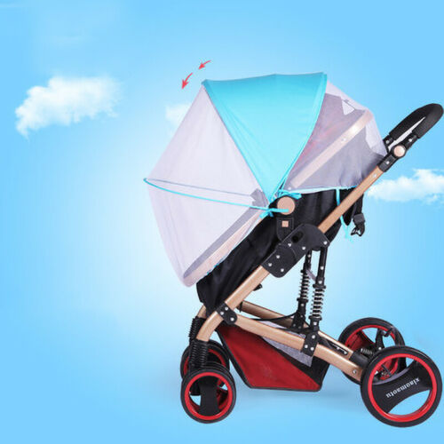 2 in 1 Baby Buggy Pram Stroller Pushchair Mosquito Net Cover Sun Shade Canopy UK