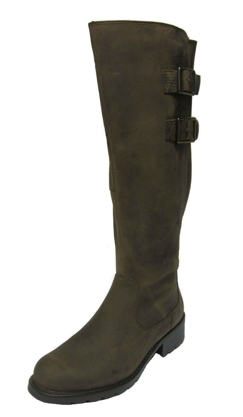 Clarks Orinoco Tango Black Or Khaki Leather Casual Long Boots D Fitting