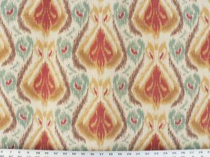 Drapery Upholstery Fabric Linen Printed Southwestern Ikat Design