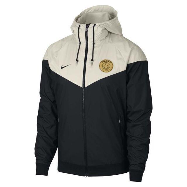 Nike Paris Saint-germain Windbreaker Mens Large Cream black 892442 ... b6c353d5c