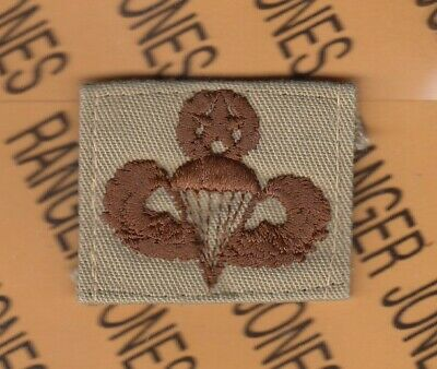 US Army Army Paratrooper Wing Patch with star DCU Desert Tan