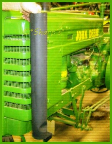 """John Deere H Black Straight Stack USA! High Heat Finish 24/"""" Tall with Dent"""