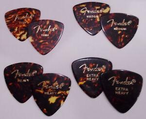 8-Fender-Guitar-Picks-2-each-Thin-Medium-Heavy-Extra-Heavy-BEST-PICKS