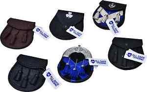 Scottish-Men-039-s-Leather-Kilt-Sporran-Various-Styles-Boy-Kilt-Sporrans-23-Designs