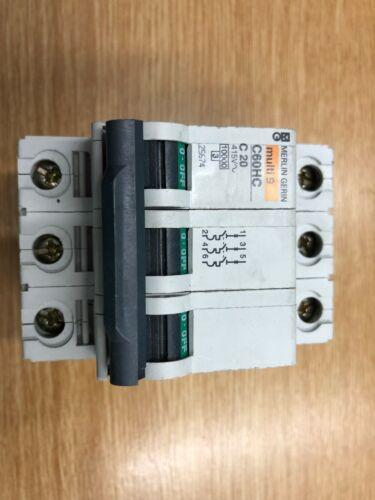 Merlin Gerin Multi 9 disjoncteur C60HC C60HB C60HD C//B//D types unique et triple