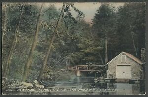 Millbrook-NY-c-1910-Postcard-BOAT-HOUSE-TURKEY-HOLLOW-Deep-Hollow-Road-Area