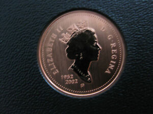 1 cent **Key Date** Double-Date 1952-2002 2002 Canadian Proof Penny One Cent