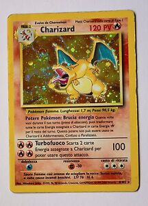 Charizard carta, 4/102, holo, Rara, card, set base, POKEMON - Italia - Charizard carta, 4/102, holo, Rara, card, set base, POKEMON - Italia
