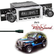 RetroSound 76-86 Jeep CJ5/CJ7 LAGUNA-C Radio/3.5mm AUX-In for ipod/Push Button
