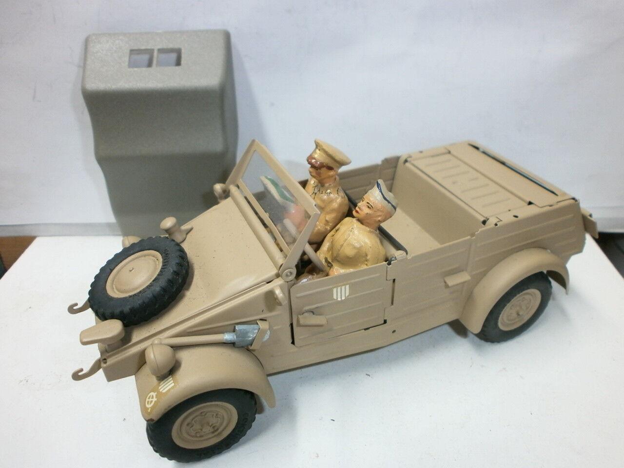 Alter Gonio Tin Sahara VW Jeep Type 82 with 2 Elastolin Ground Soldiers 7cm