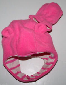 58c964d52f6 baby Gap New Pink Pro Fleece Bear Hat   Mittens Set w  Knit Lining ...