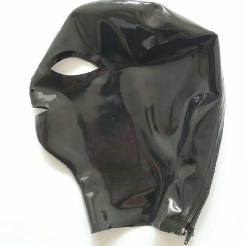 Latex Hood Handmade Rubber Mask for Catsuit Beautiful Girl Club Wear Costumes