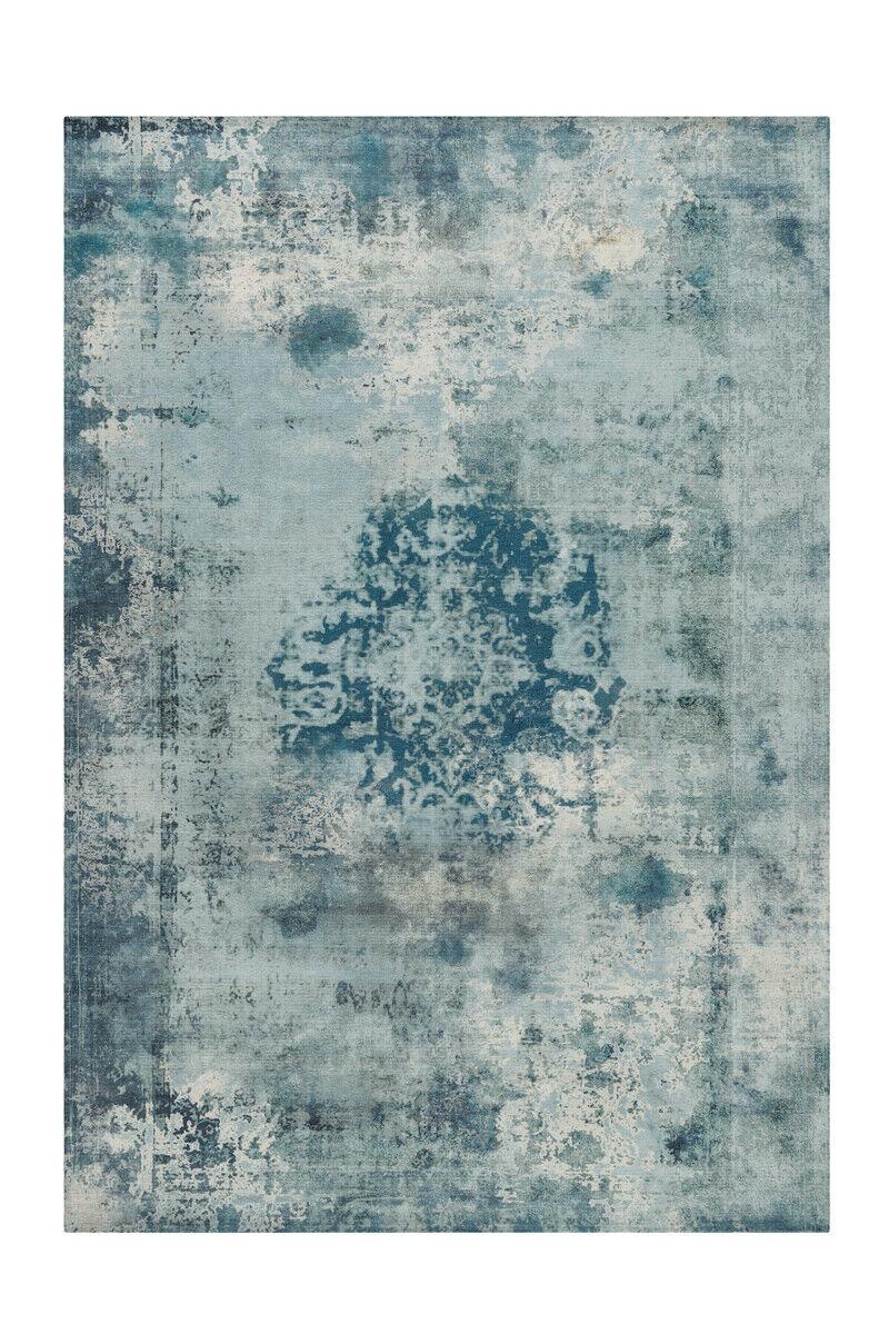 Arte Espina Tapis Vintage Oriental Design aubousson TURQUOISE BLEU gris 140x200cm