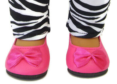 """Doll Clothes fits 18/"""" American Girl Hot Pink Ballet Flats Shoes"""