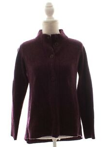 Eileen-Fisher-Purple-Lambswool-Cashmere-Cardigan-Size-Small-Petite-PS