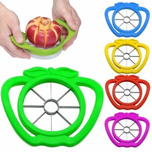 APPLE-WEDGER-SLICER-CUTTER-CORER-DIVIDER-PEELER-PEAR-FRUIT-STAINLESS-STEEL-METAL