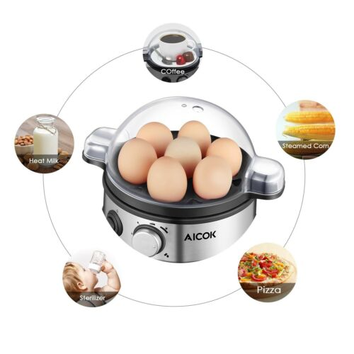 Multi-functional Electric Egg Cooker, Stainless Steel Egg Steamer
