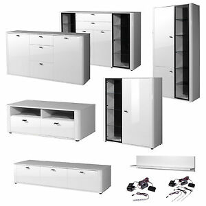 wohnzimmer set vitrine sideboad highboard tv lowboard. Black Bedroom Furniture Sets. Home Design Ideas