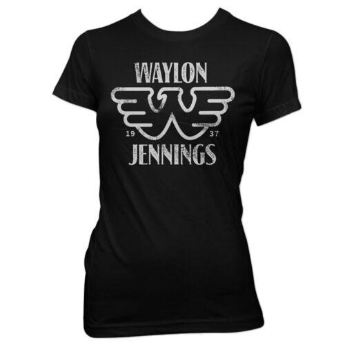 Authentic WAYLON JENNINGS Est 1937 Girl Juniors T-Shirt S M L XL 2XL NEW