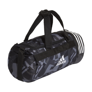 6262363ce8bad Image is loading Adidas-Training-Bag-Convertible-Backpack-3-Stripes-Duffel-