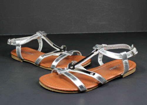 anika-61k Kids Toddlers Youth Wedding Party Sandals Girls/' Dress Shoes Silver 9