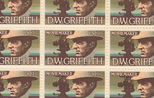 D.W. Griffith Mint Sheet of 50 Stamps, Scott #1555, MNH, Free Shipping! Nice!