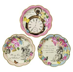 72 x Vintage Style Truly Alice in Wonderland Paper Plates Mad ...