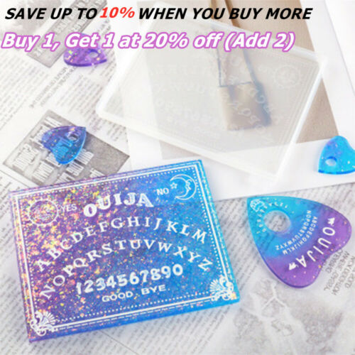 Ouija Planchette Silicone Mold Resin Jewelry Making Mould Epoxy Pendant DIY Tool