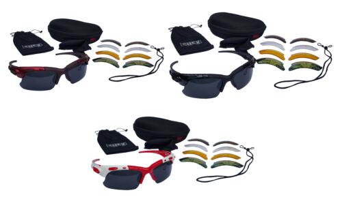 CHEX Europa Homme Garçons Sportsglasses Lunettes de soleil Alternative 5 VERRES HARD CASE