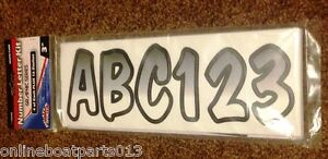 3 034 inch white black shaded boat letters
