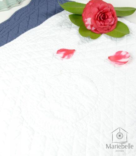 Platzset Platzdeckchen Tischset gesteppt Landhaus Shabby Weiß Beige Blau Grau