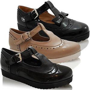 T Plataforma Talla Baja Colegio Geek Cuña Zapato Mujer Oxford Barra HIqaxyO