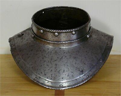 Iron Gorget Collectible Antique vintage Medieval Viking infantry Centurion Armor