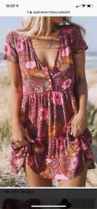 Dress Daisy Desert In Doll S Baby Colletto Gypsy Tulip Incantesimo tqvOYx
