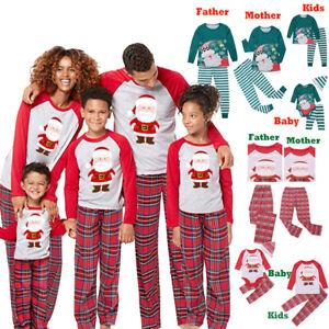 Family Christmas Pajamas 2019.Details About Au 2019 Family Christmas Pjs Set Women Men Baby Kid Sleepwear Nightwear Homewear
