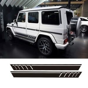 matte black Mercedes-Benz G63 AMG Performance Edition side sports stripe decal