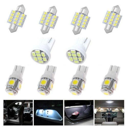 14Pcs White LED Interior Package Kit For T10 /& 31mm Map Dome License Plate Light