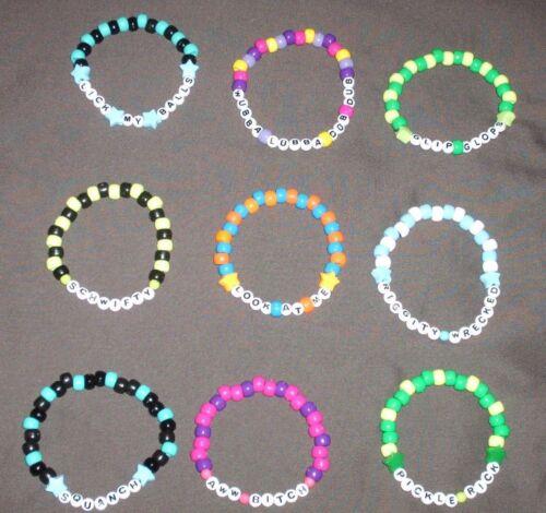 9 Lot Rick Morty Quote Kandi Single Bracelets B5G1 FREE EDM EDC Fest Rave Dance