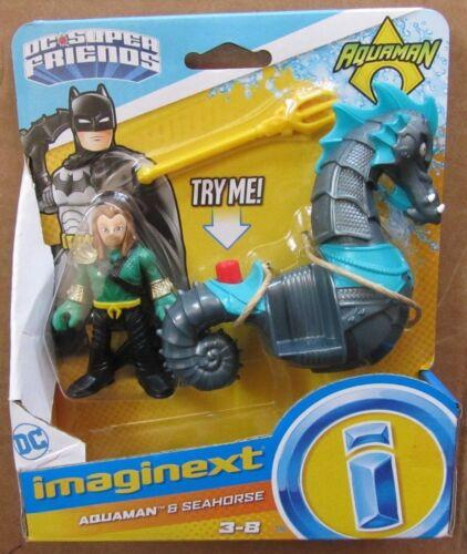 IMAGINEXT DC Super Friends AQUAMAN /& Cavalluccio Marino ~ Fisher-Price ~ nuovo in pacchetto