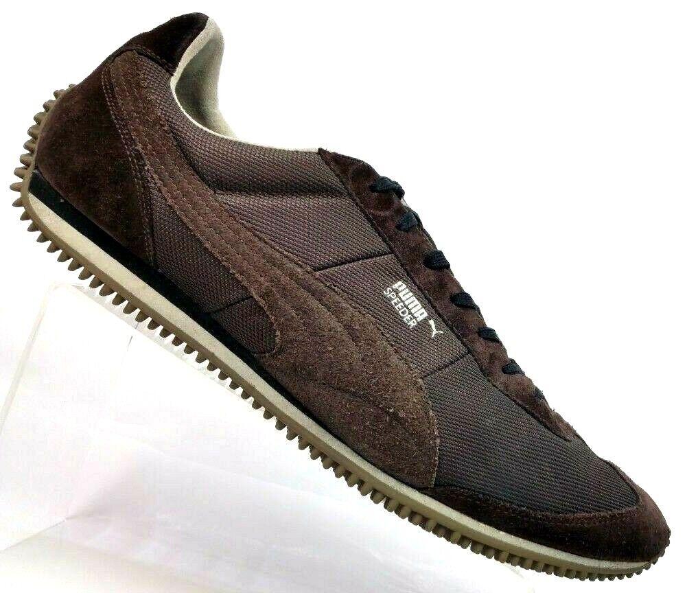 Puma Speeder Brown Suede Retro Fashion Sneakers Driving shoes 345639-20 Men's 12
