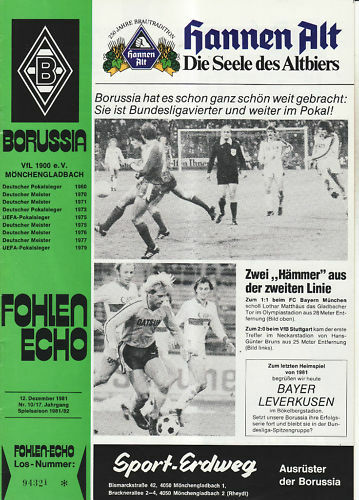 BL 81/82 Bayer Borussia Mönchengladbach - Bayer 81/82 04 Leverkusen (12.12.1981) 589809