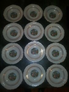 12-lot-Vogue-Dinnerware-Washington-Colonial-China-Rare-Soup-Bowl-Courting-Couple