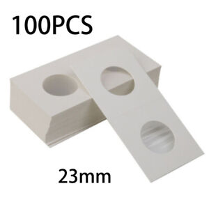 100Pcs-PENNY-Size-2X2-Cardboard-Coin-Flips-Storage-1-Cent-Paper-Holders-White