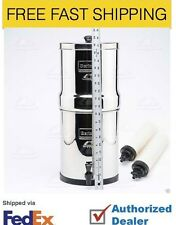 "Big Berkey Filter System w/ 2 9"" White Ceramic Filters - British Berkefeld"