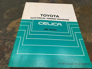 1989 Toyota Celica Wiring Diagrams Electrical Service Manual Ebay